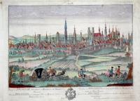 Prospectus Bruxeliae, urbis nobilis in Brabantia, ad Senne Fluvium-Vedutta de Brusseles, una principale citta in Brabante, situato al Senne Fluvio.