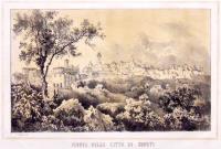 Veduta della città di Chieti capitale dell'Abruzzo Citeriore.