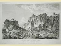 Vue de la Ville et du Chateau de Tropea situé sur la Coste de la Calabre Oltérieure.