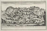 La città di Matera capitale della Basilicata nel Regno di Napoli.