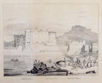 Castello Nuovo in Napoli. Castello St. Elmo.