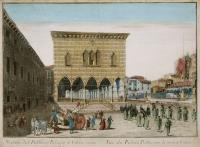 Veduta della Piazza Contarena di Udine.