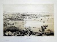 Trieste, vue prise au dessus du Lazaret Neuf.