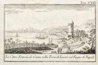 La città e Fortezza di Gaeta nella Terra di Lavoro nel Regno di Napoli.
