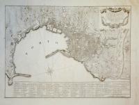 Topografia del porto della città di Genova nel solo ristretto delle sue mura vecchie, coll'indicazione delle chiese e luoghi principali, dedicata a sua eccellenza il sig. Gerolamo Durazzo.