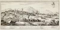 L'Antichissima Città di Camerino nello Stato della Chiesa, veduta dalla parte di mezzogiorno.