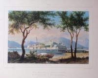 Lac Majeur, vue des iles Borromée -Lago maggiore, veduta dell'isole Borromée.