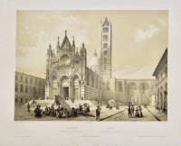 Sienne, vue générale de la Cathedrale – Siena, veduta generale del Duomo.