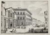 Veduta della piazza, e chiesa di S. Giovannino de PP. Gesuiti e de palazzi dei SS.ri Marchese Riccardi e Panciatichi