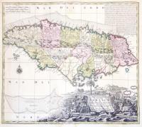 Nova Designatio Insulae Jamaicae ex Antillanis Americae Septentrio