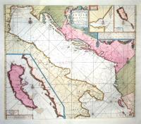 Pas kaart van de Weder zytsche Zee-kusten soo van Italia als Dalmatia en Griecken en de golf van Venetien.