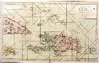 Carte réduite de L 'Isle de Saint Domingue et de ses débouquements.