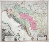 Nova et accurata tabula regnorum et provinciarum Dalmatiae, Croatiae, Scalvoniae, Bosniae, Serviae, Istriae et rep. Ragusanae.