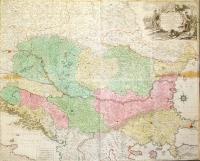 Carte geographique du theatre de la guerre en general  representant le Royaume de Hongarie, le principauté de Transylvanie et les royaumes de Croacie, de Dalmacie, de Sclavoniae, de Bosniae, de Serviae, les principautes de Moldavie, de Valachie, les provinces de Bessarabiae, de Bulgariae et de Romaniae avec une grande partie de l'Estat de Pologne.