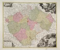 Mappa geographica totius Regni Bohemiae .