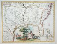 Carta geografica della Florida nell'America settentrionale.