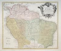 Tabula Americae Specialis Geographica Regni Peru, Brasiliae, Terrae Firmae.