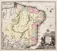Mappa geographica Regni Brasiliae in America meridionali