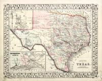 County map of Texas