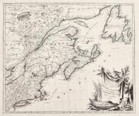 Partie Orientale du Canada avec la Nouvelle Angleterre, l'Acadie et la Terre-neuve.