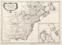 Carte générale du Canada, de la Louisiane, de la Floride, de la Caroline, de la Virginie, de la Nouvelle Angleterre etc.