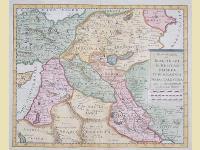 Nuova Carta di Irak Arabia Kurdistan Diarbek Turcomania Siria e Palestina.