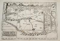 Tabula tertia Aphricae continet Cyrenaicam, quae & Pentapolis, Marmaricam, Libyam, Aegiptum, & Thebaidem.