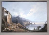 (Veduta notturna di Amalfi).