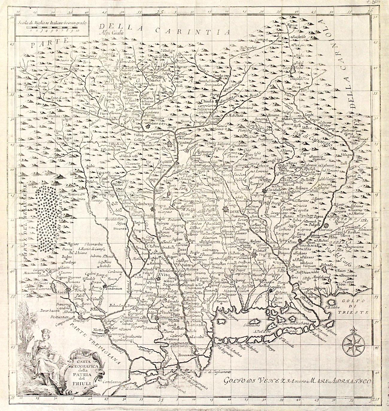 Cartina Geografica Friuli.Salmon Tommaso Carta Geografica Della Patria Del Friuli