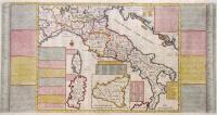 Nouvelle carte de l'etat present de l'Italie pour parvenir par une methode nouvelle, a la connoissance de la geographie…