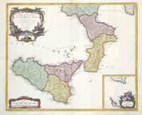 Partie meridionale du Royaume de Naples ou se trouve la Calabre et l'isle et Royaume de Sicile.