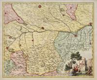 Carta geografica dei territori di Pavia, di Lodi e di Piacenza.