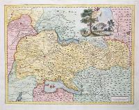 Carta geografica del territorio bresciano.