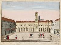 Veduta del palazzo Iuridico ala piazza de' Mercanti in Milano (rip. In francese)