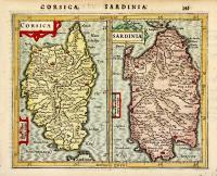 Corsica. Sardinia.