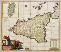 Regnorum Siciliae et Sardiniae nova & accurata tabula.
