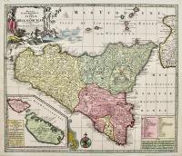 Mappa Geographica totius Insulae et Regni Siciliae..