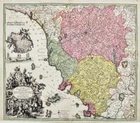 Novissima et accuratior tabella magni Ducatus Hetruriae complectens hodie tria territor: Florentinum Pisanum et Senense cum insula Elba et locis quibusdam Vallis Magrae