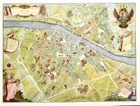 Pianta della città di Firenze nelle sue vere misure colla descrizione dei luoghi più notabili delle cose di ciascun quartiere.