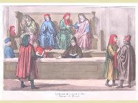 Costumi del secolo XIV. Tribunale dei mercanti.