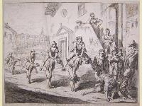 Salta la quaglia, divertimento popolare di Roma, usato dai ragazzi nei giorni di festa.