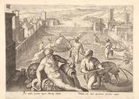Sic nudus piscator aquas, limosaq. tranans. Elimina, rete novis quadratum piscibus implet.