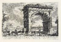 Veduta dell'Arco di Gallieno. Castello di una parte dell'Acqua Giulia. Monumento delle Acque Marcia, Tepula, e Giulia a ...
