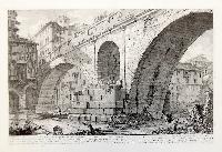 Veduta del Ponte Fabrizio oggi detto quattro Capi. Questo Ponte è spogliato nel di sopra dè suoi antichi Finimenti, et ornamenti, i quali …
