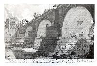Veduta del Ponte d'Elio Adriano, oggi detto di S. Angelo, dalla parte del Castello verso la strada di Banchi …