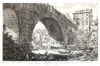 Veduta del ponte Ferrato dagl'antiquarj detto Cestio...