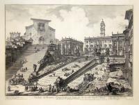 Veduta del Romano Campidoglio con Scalinata che va alla Chiesa d'Araceli