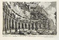 Veduta del second'ordine di una parte della calcidica del foro di Trajano.