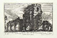 Monumento del condotto antoniniano sotto al di cui passava la via Appia. A: Speco, o sia canale del condotto. B: opera arcuata del medesimo. C: avanzi della stessa opera.