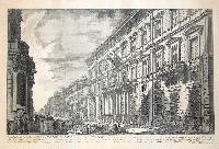 Veduta, nella via del Corso, del palazzo dell'Accademia istituita da Luigi XIV re di Francia
